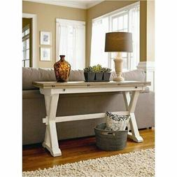 BOWERY HILL Drop Leaf Console Table in Terrace Gray and Wash
