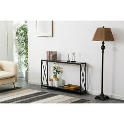Durable Console Table Accent Entryway Hall Display Storage S