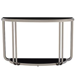 Modern Edison Black Nickel Plated Console Sofa Table with Te