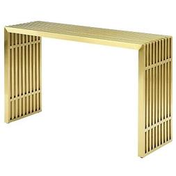Modway EEI-3036-GLD Gridiron Stainless Steel Console Table,