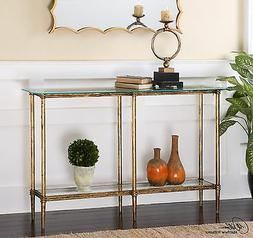 Uttermost Elenio Collection Glass Console Table