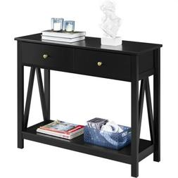 Entry/Sofa Console Table w/Drawer and Open Shelf for Entrywa