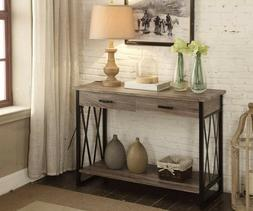 Entry Table Console Furniture Wood Entryway Hallway Weathere