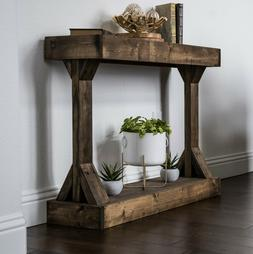 Entryway Table Console Side End Distressed Wood Display Stor