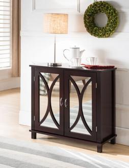 Kings Brand Furniture Entryway Console Sofa Side Table, Mirr