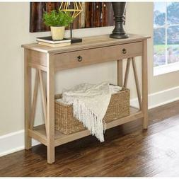 Entryway Console Table Rustic Narrow Wood Accent Tables For