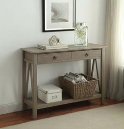 entryway console table rustic narrow wood tables