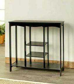 Entryway Console Table Shelving Multiple Organizer Storage F