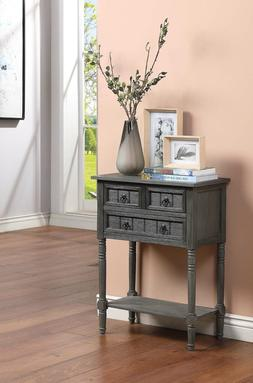 Entryway Hall Way Console Table Narrow W/ Drawer Vintage Mid