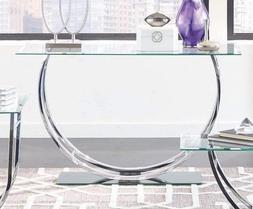 Entryway Table Console Sofa Tables Glass Metal Hallway Side