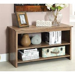 Furniture of America Erhart V 2-Shelf Console Table, Rustic