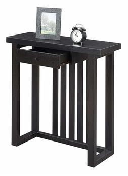 Espresso Console Table Furniture Accent Modern Wood Entryway