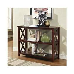 Espresso Console Table Furniture Modern Accent Wood Entryway