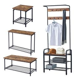 Espresso Side Coffee Table Console Table Coat Stand Living R