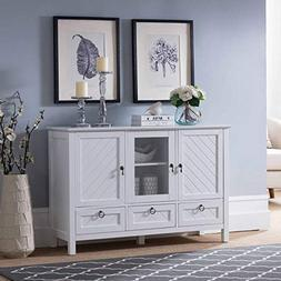 Kings Brand Furniture – Evans Sideboard Buffet Console Tab