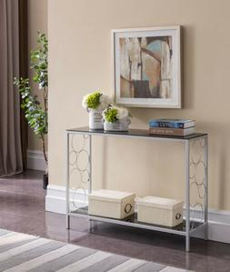 Kings Brand Furniture - Ewing Silver Entryway Console Sofa T