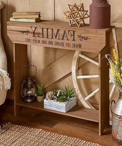 Family Farmhouse Country Sentiment Console Table Entryway Ha