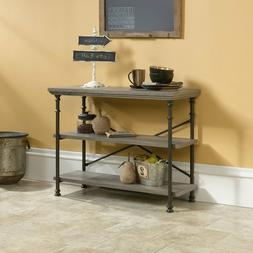 Entry Table Farmhouse Industrial Accent Console Side Hallway