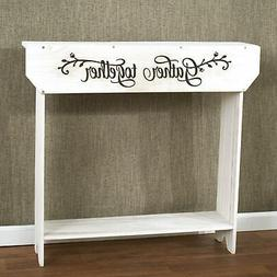"Farmhouse Sentiment Console Table - ""Gather Together"" - Rust"