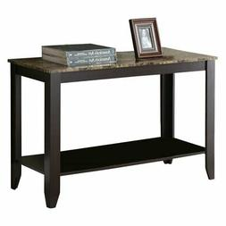 Monarch Specialties Marble Look Top Sofa Console Table, 44-I