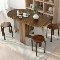 folding drop leaf dining table console table