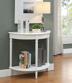 French Country Entryway Table, White