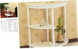 Frenchi Home Furnishing Half Moon Console Table, White White