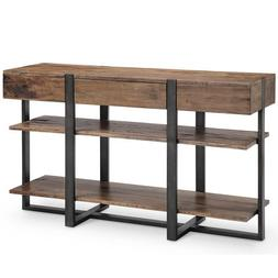 251 First Fulton Industrial Farmhouse Reclaimed Wood Rectang
