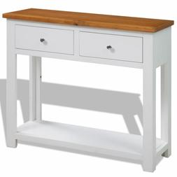 White Console Table Furniture Accent Vintage Entryway Sofa W