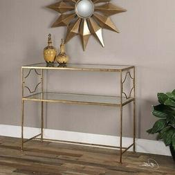Uttermost 24539 Genell Console Table, Gold