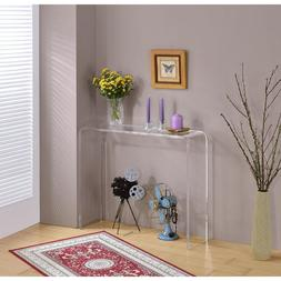 Glam Clear Rectangle Acrylic Console Table
