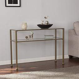 glass media console table finish