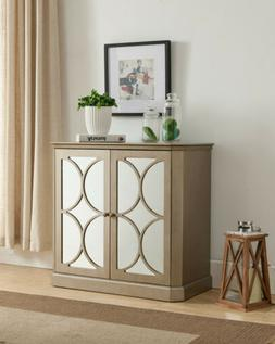 Kings Brand Gold Finish Buffet Server Cabinet/Console Table,