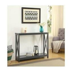 Gray Sofa Table Console Furniture Accent Entryway Wood Hallw