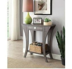 Grey Console Table Living Room Accent Contemporary Sofa Entr