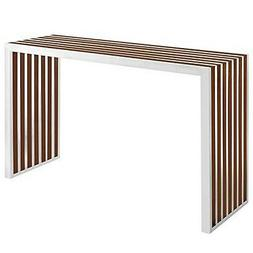 Modway Gridiron Contemporary Modern Stainless Steel Console