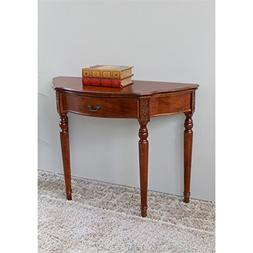 Hand Carved Wood 1-Drawer Console Table