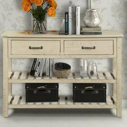 Hallway Wood Console Table Console Furniture Entry With Draw
