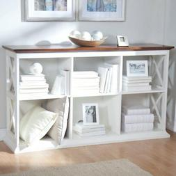hampton console table 2 shelf bookcase white