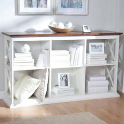 Belham Living Hampton Console Table 2 Shelf Bookcase - White