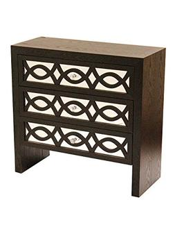 Heather Ann Creations Handcrafted Contemporary 3 Drawer Acce