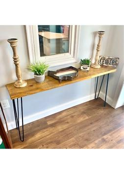 ThorWoods Handmade Rustic Distressed Real Wood Console Table
