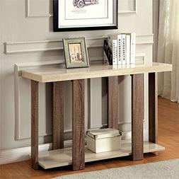 Furniture of America Haven Console Table in Light Oak