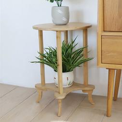 Heavy Duty Bamboo Side Table Solid Wood Occasional/Coffee/La