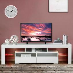 """63"""" TV Stand Unit Cabinet with LED Shelves 2 Drawers Console"""