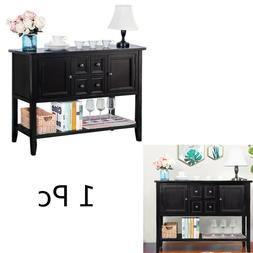 Home Buffet Sideboard Console Table with Bottom Shelf Cabine