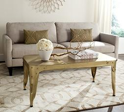 Safavieh Home Collection Classic Gold Iron Coffee Table, Bla