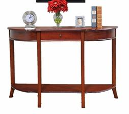 Home Craft Console Sofa Table with Drawer, Walnut