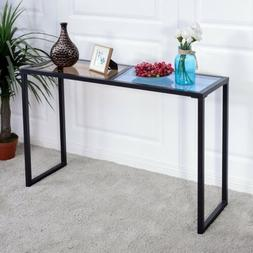 home office metal frame console table