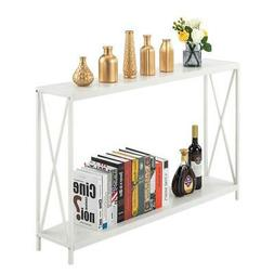 Hot Console Table Modern Sofa Accent Shelf Stand Entryway Ha